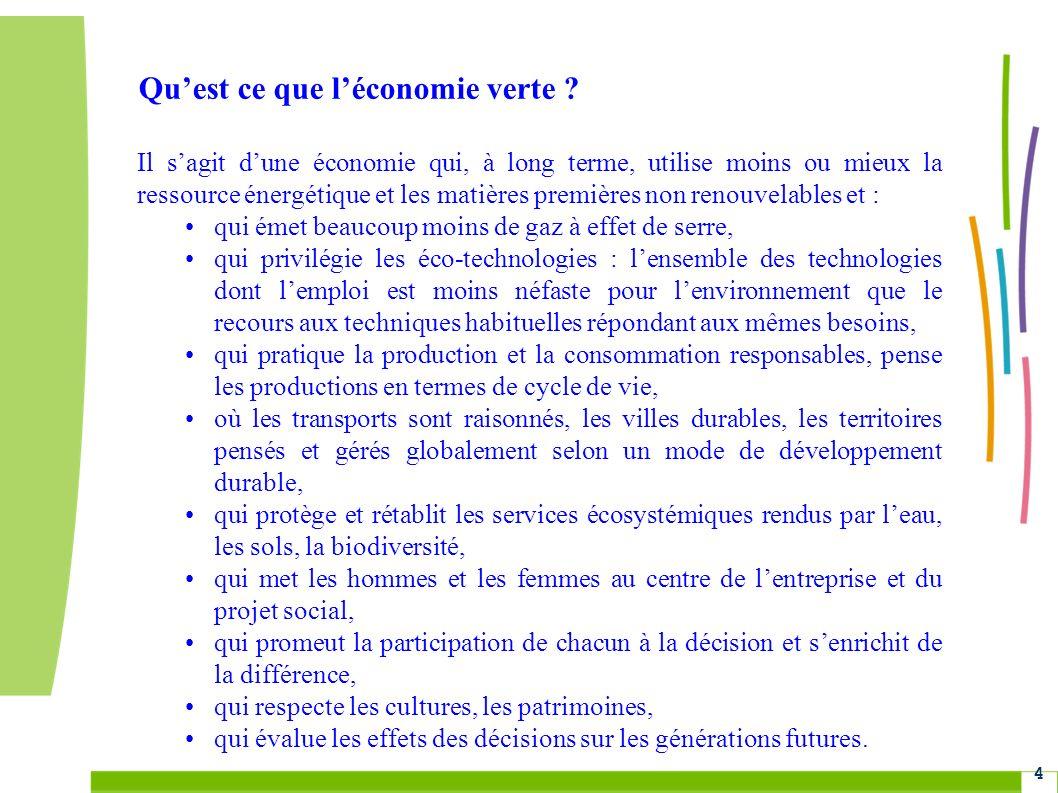 Grenelle Environnement 4 Quest ce que léconomie verte .