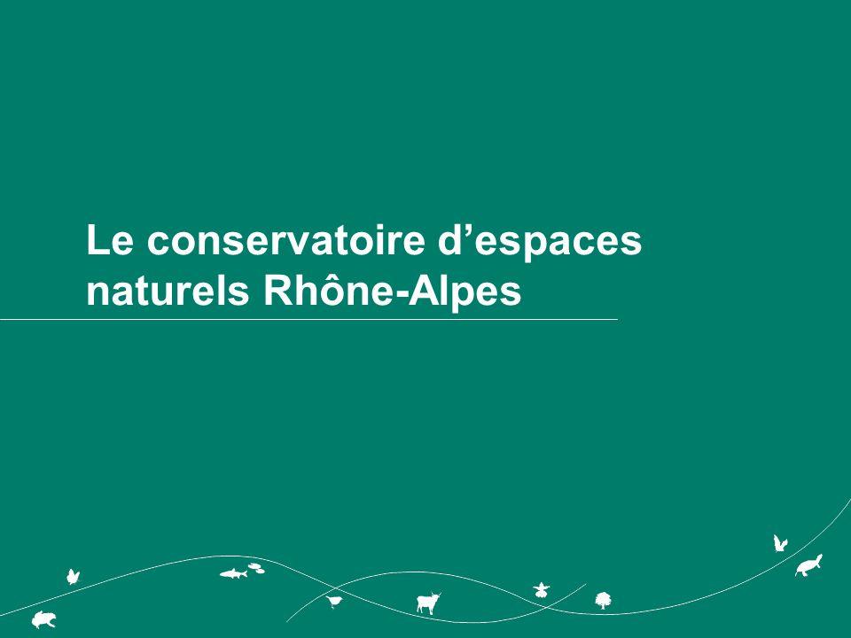 Le conservatoire despaces naturels Rhône-Alpes
