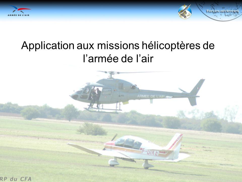 Application aux missions hélicoptères de larmée de lair