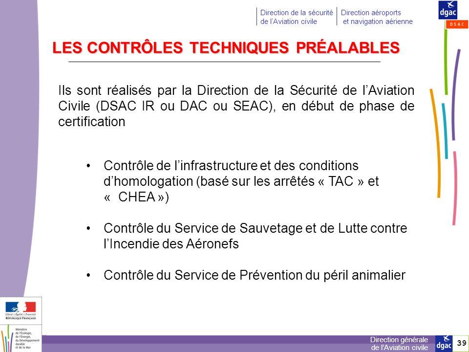 40 Direction générale de lAviation civile Direction de la sécurité de lAviation civile Direction aéroports et navigation aérienne 40 Généralement réalisés de façon en même temps, ils sont basés sur les procédures décrites dans le manuel daérodrome et les documents auxquels le manuel fait référence.