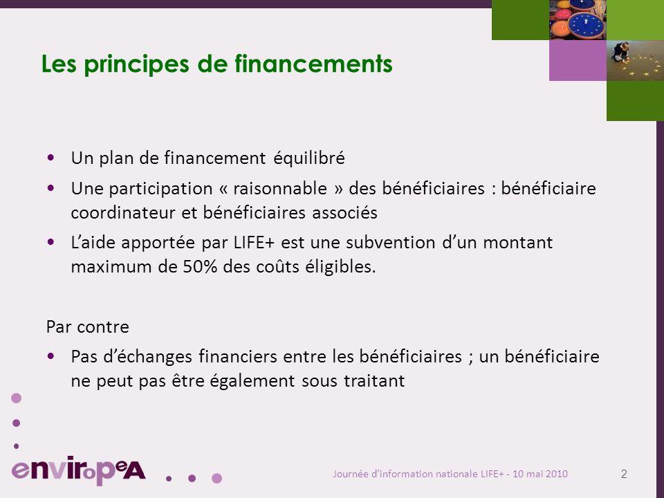 3 Journée dinformation nationale LIFE+ - 10 mai 2010 Formulaire financier FC