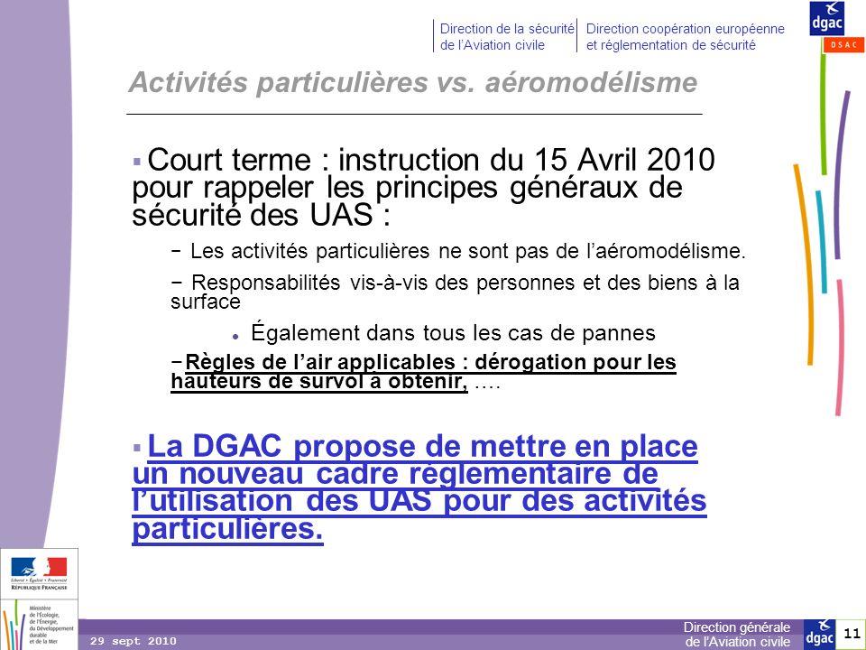 11 Direction générale de lAviation civile Direction de la sécurité de lAviation civile Direction coopération européenne et réglementation de sécurité