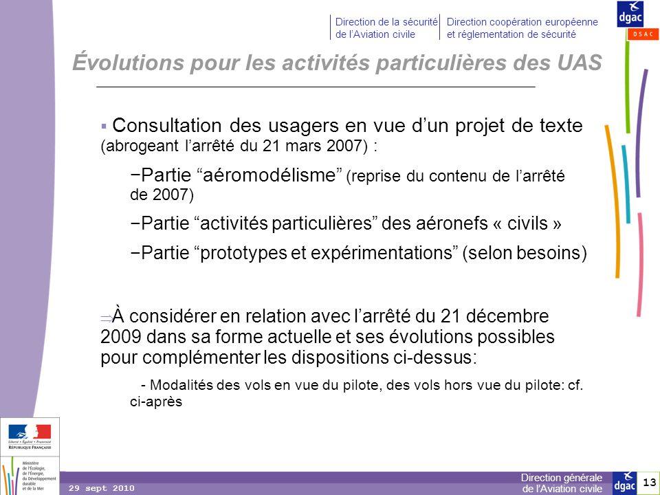 13 Direction générale de lAviation civile Direction de la sécurité de lAviation civile Direction coopération européenne et réglementation de sécurité