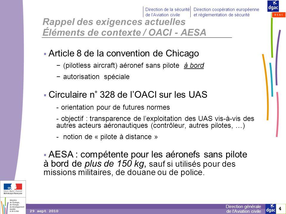 4 4 Direction générale de lAviation civile Direction de la sécurité de lAviation civile Direction coopération européenne et réglementation de sécurité