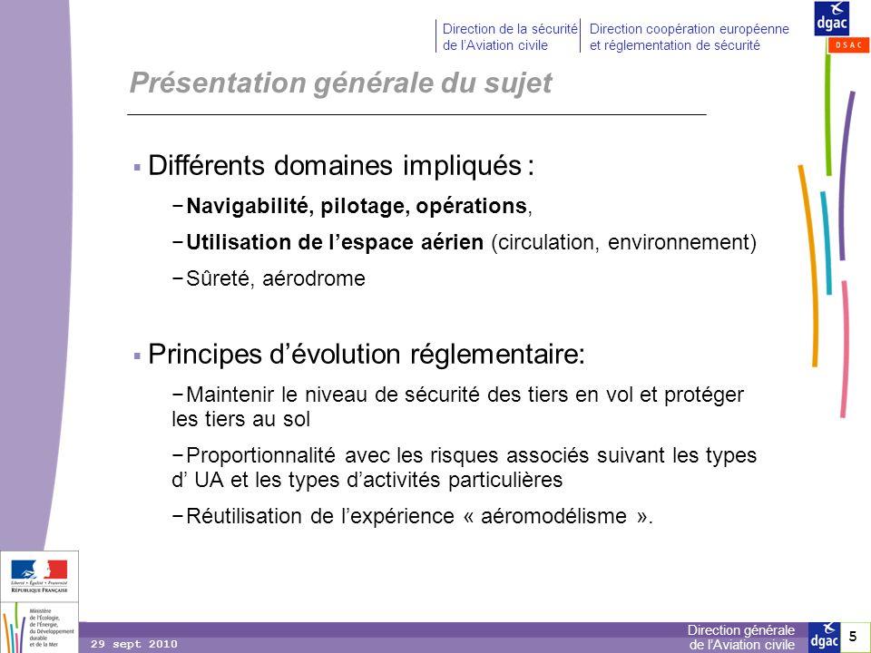 5 5 Direction générale de lAviation civile Direction de la sécurité de lAviation civile Direction coopération européenne et réglementation de sécurité