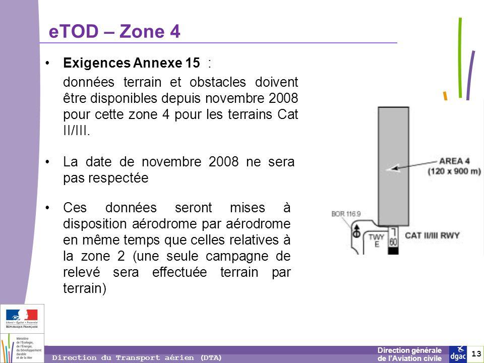 14 1414 Direction générale de lAviation civile Direction du Transport aérien (DTA) eTOD – Accès aux données Données hors licences (cf.