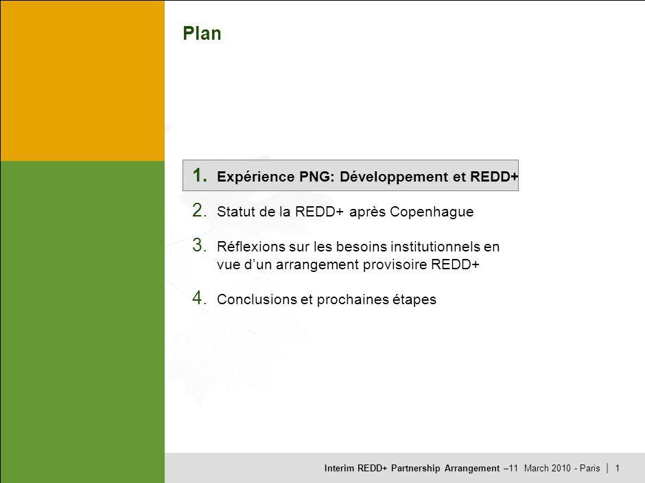 Interim REDD+ Partnership Arrangement –11 March 2010 - Paris | 1 Plan 1.