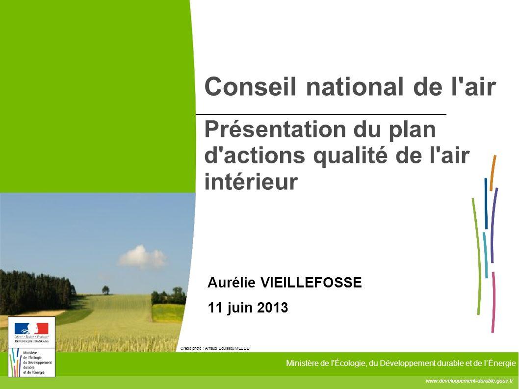 www.developpement-durable.gouv.fr Ministère de l'Écologie, du Développement durable et de lÉnergie Crédit photo : Arnaud Bouissou/MEDDE Conseil nation