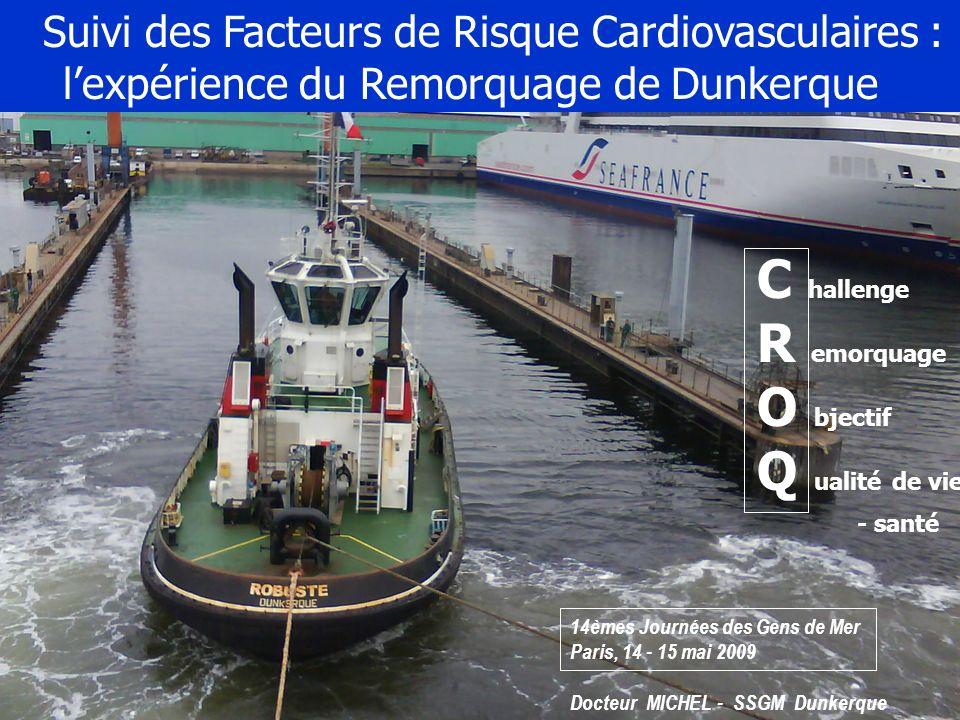 Suivi des Facteurs de Risque Cardiovasculaires : lexpérience du Remorquage de Dunkerque Docteur MICHEL - SSGM Dunkerque C hallenge R emorquage O bject