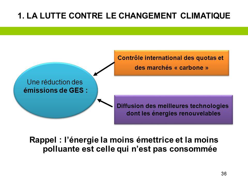 35 Les principales pistes daction 1.La lutte contre le changement climatique 2.La préservation des milieux naturels et de la biodiversité 3.La sobriét