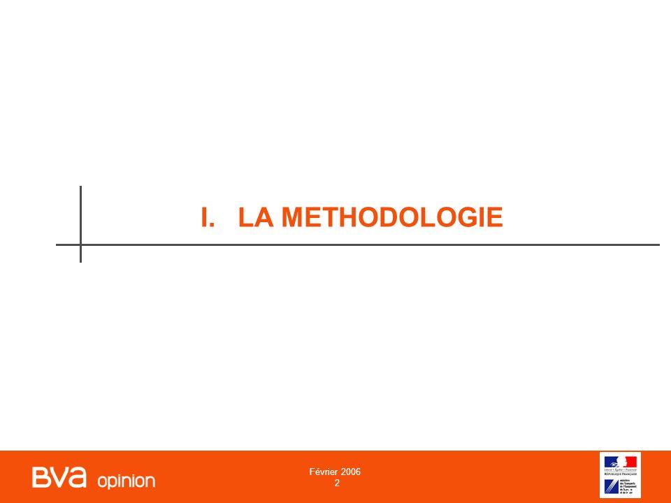Février 2006 2 2 I.LA METHODOLOGIE