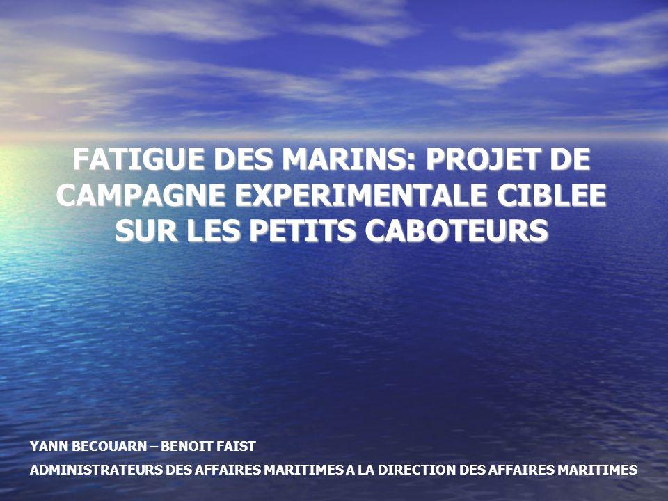 La fatigue des marins : un véritable enjeu de sécurité maritime Les enjeux à venir en matière de sécurité maritime vont se concentrer sur le volet humain