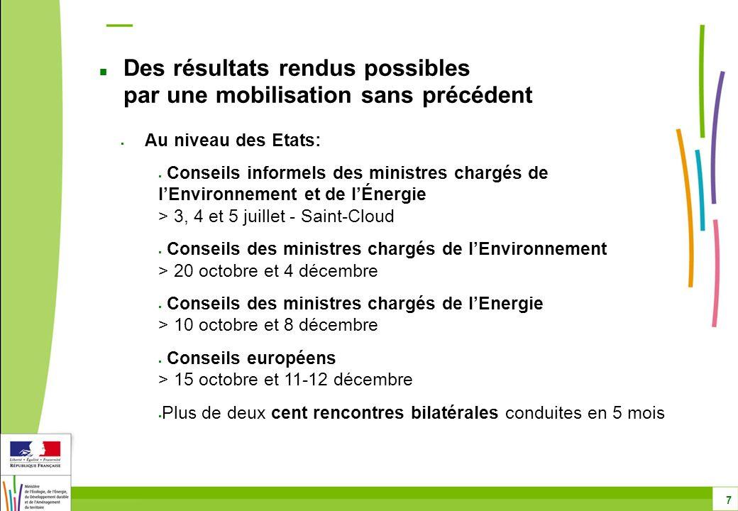 Au niveau des Etats: Conseils informels des ministres chargés de lEnvironnement et de lÉnergie > 3, 4 et 5 juillet - Saint-Cloud Conseils des ministre