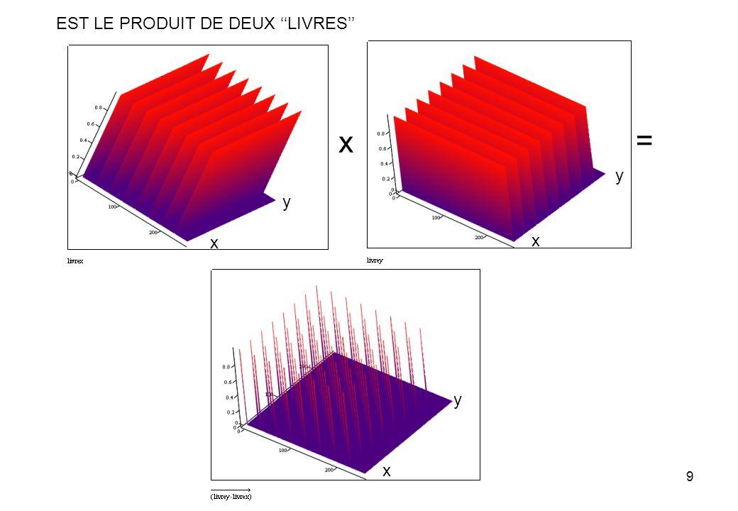 9 EST LE PRODUIT DE DEUX LIVRES x = x y x y x y