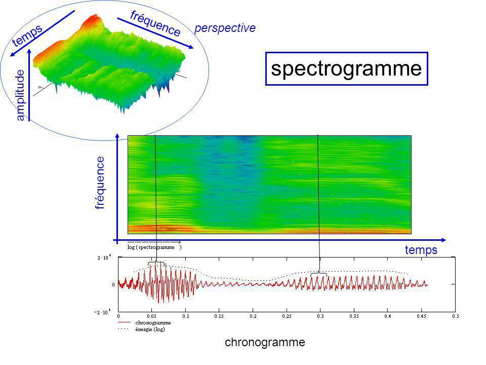 temps fréquence perspective temps fréquence amplitude spectrogramme chronogramme