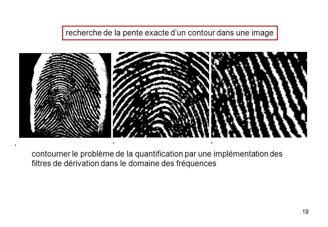 19 recherche de la pente exacte dun contour dans une image contourner le problème de la quantification par une implémentation des filtres de dérivatio