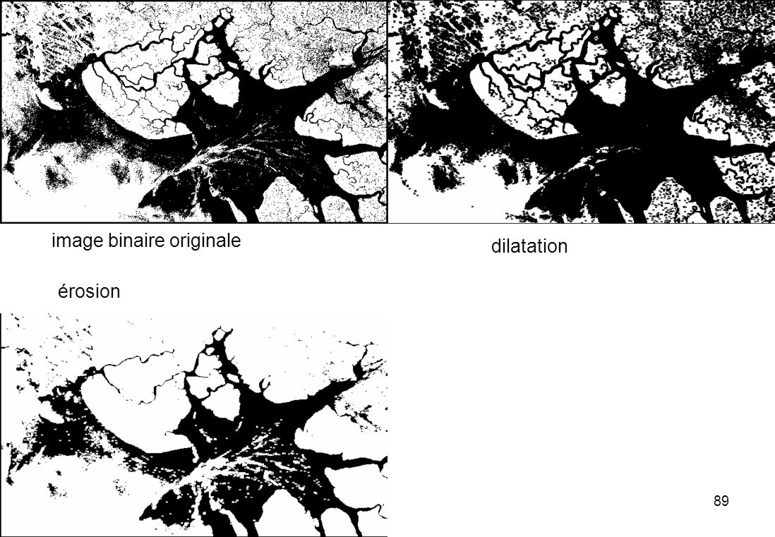 89 dilatation érosion image binaire originale
