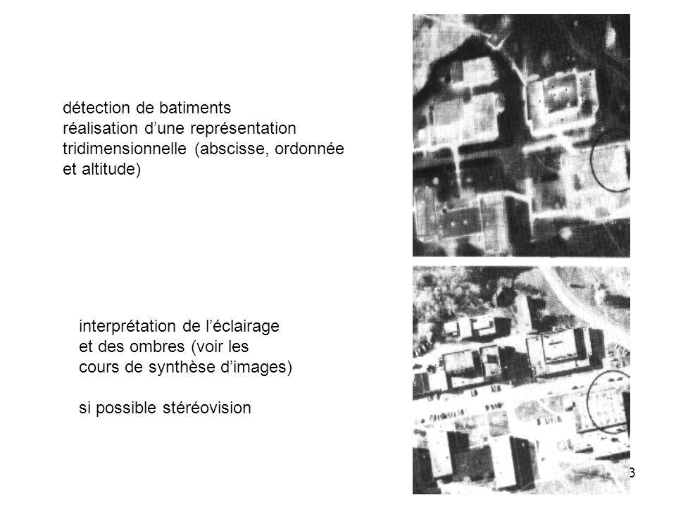 53 détection de batiments réalisation dune représentation tridimensionnelle (abscisse, ordonnée et altitude) interprétation de léclairage et des ombre