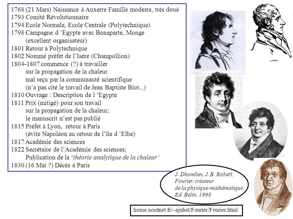 2 1768 (21 Mars) Naissance à Auxerre Famille modeste, très doué 1793 Comité Révolutionnaire 1794 Ecole Normale, Ecole Centrale (Polytechnique) 1798 Ca