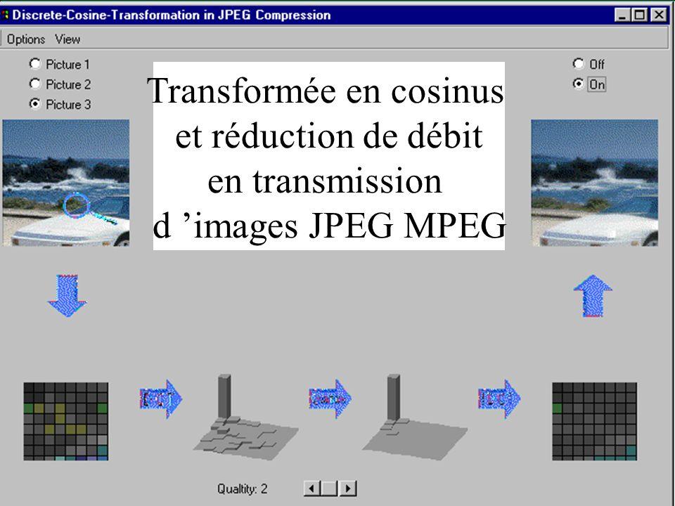 40 Transformée en cosinus et réduction de débit en transmission d images JPEG MPEG