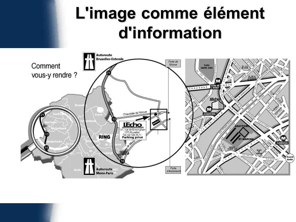 L image comme élément d information