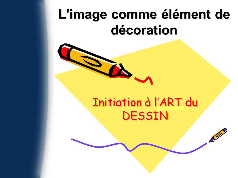 L image comme élément de décoration