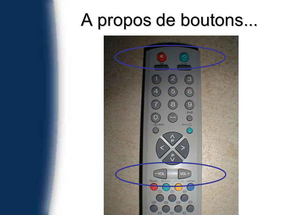 A propos de boutons...