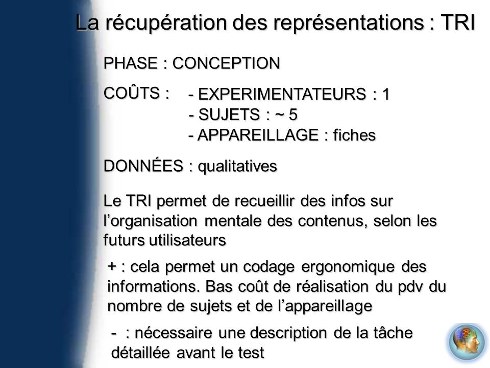 Les QUESTIONNAIRES 1.I think that I would like to use this system frequently 2.