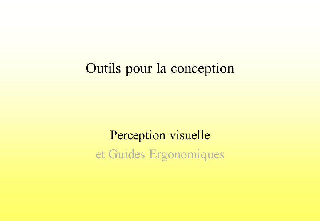 Outils pour la conception Perception visuelle et Guides Ergonomiques
