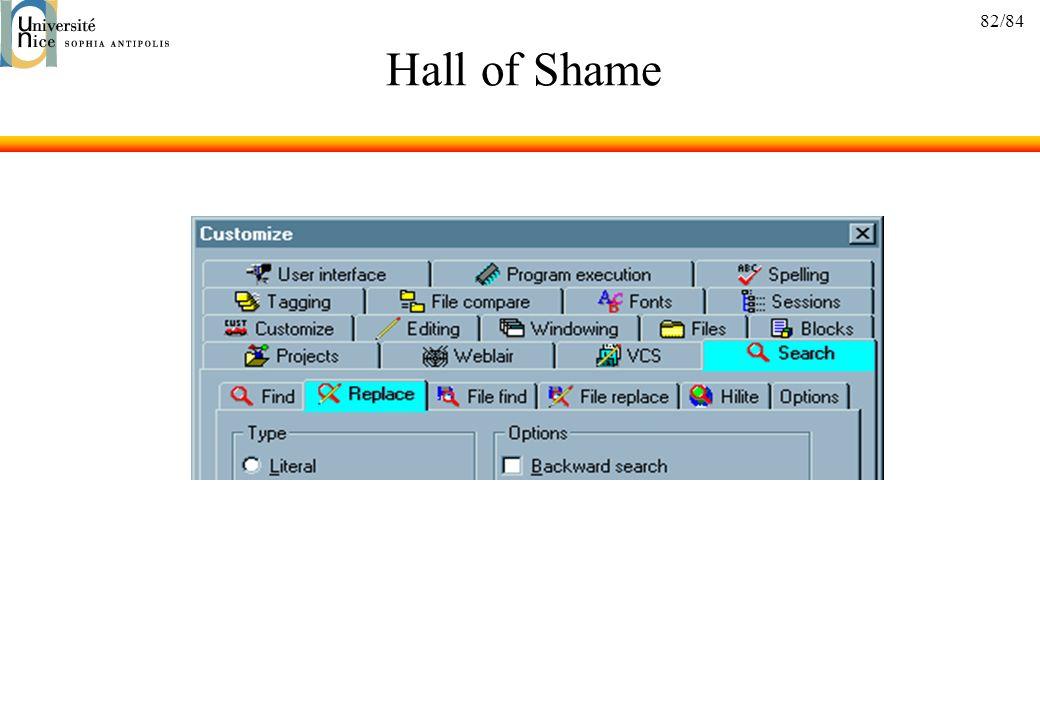 82/84 Hall of Shame