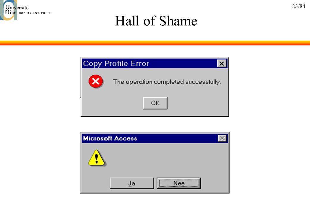 83/84 Hall of Shame