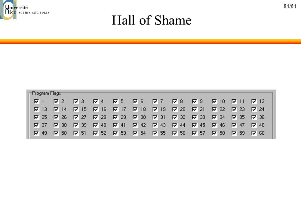 84/84 Hall of Shame