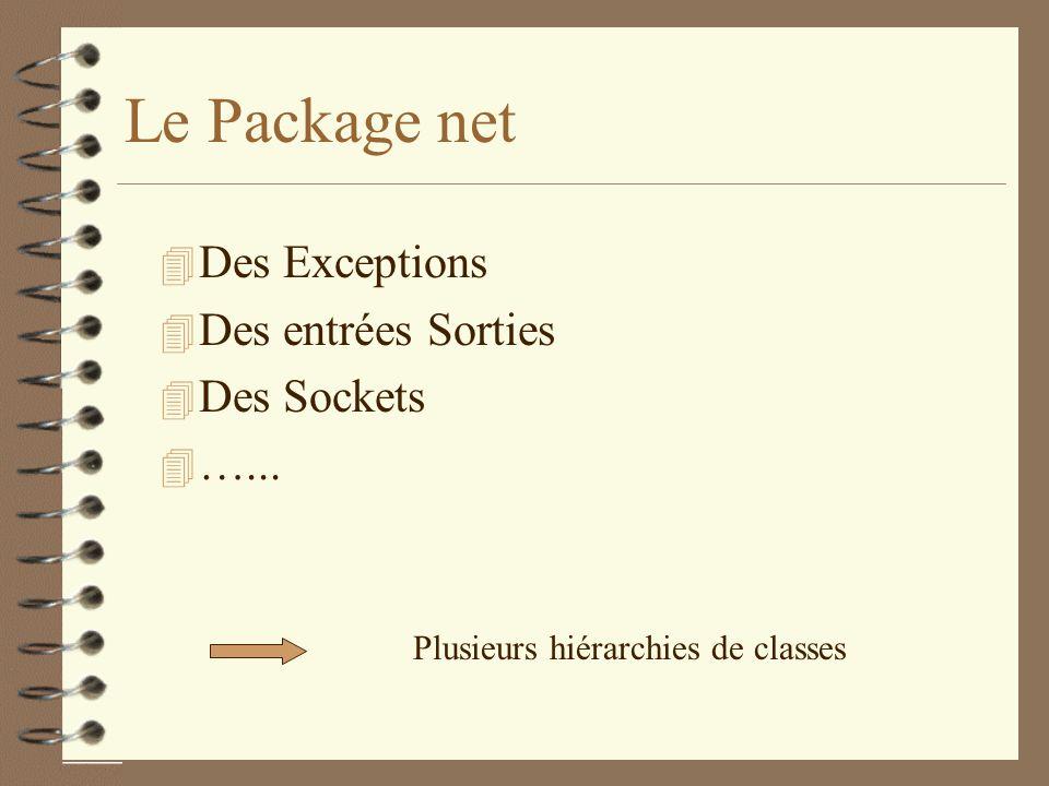 Le Package net 4 Des Exceptions 4 Des entrées Sorties 4 Des Sockets 4 …...