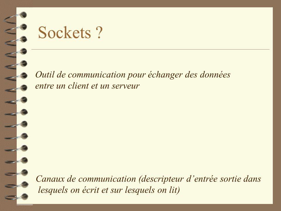 Sockets .