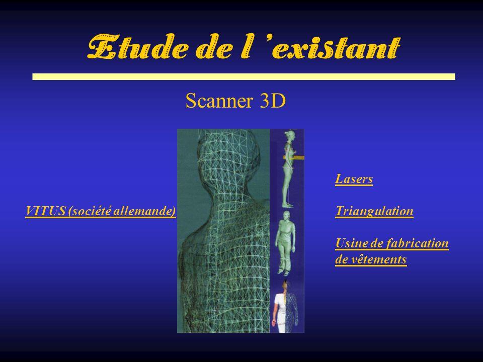 Scanner 3D VITUS (société allemande) Lasers Triangulation Usine de fabrication de vêtements Etude de l existant