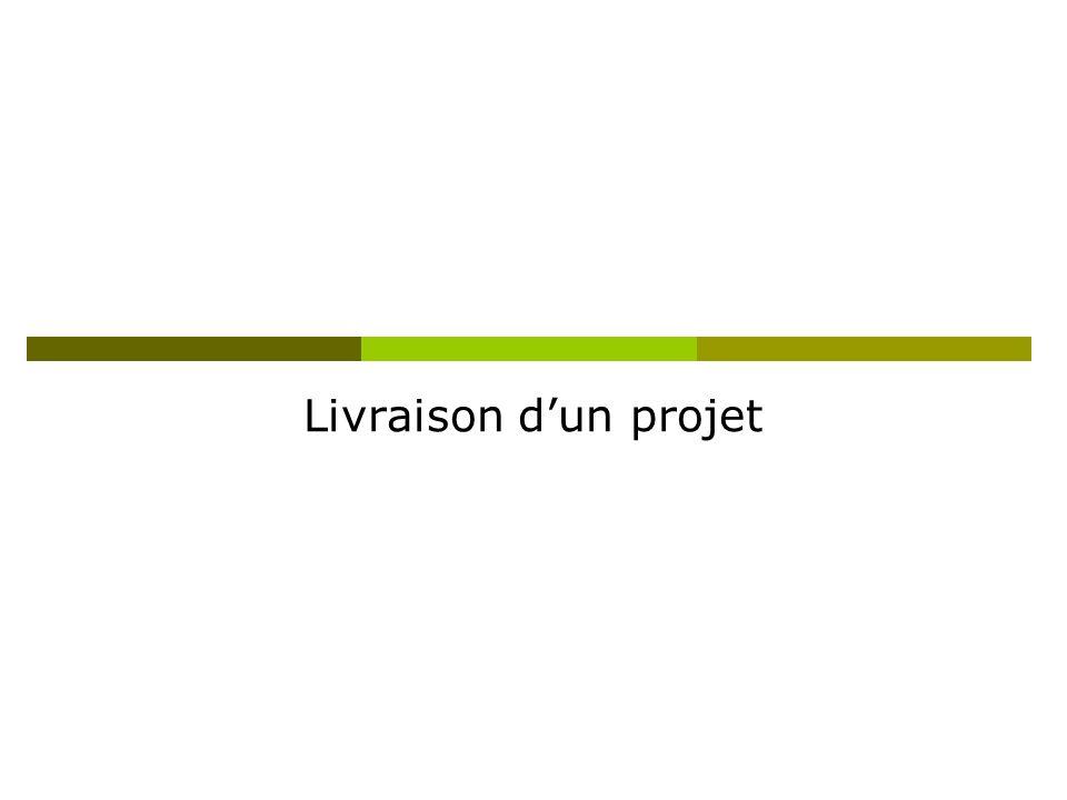 Livraison dun projet