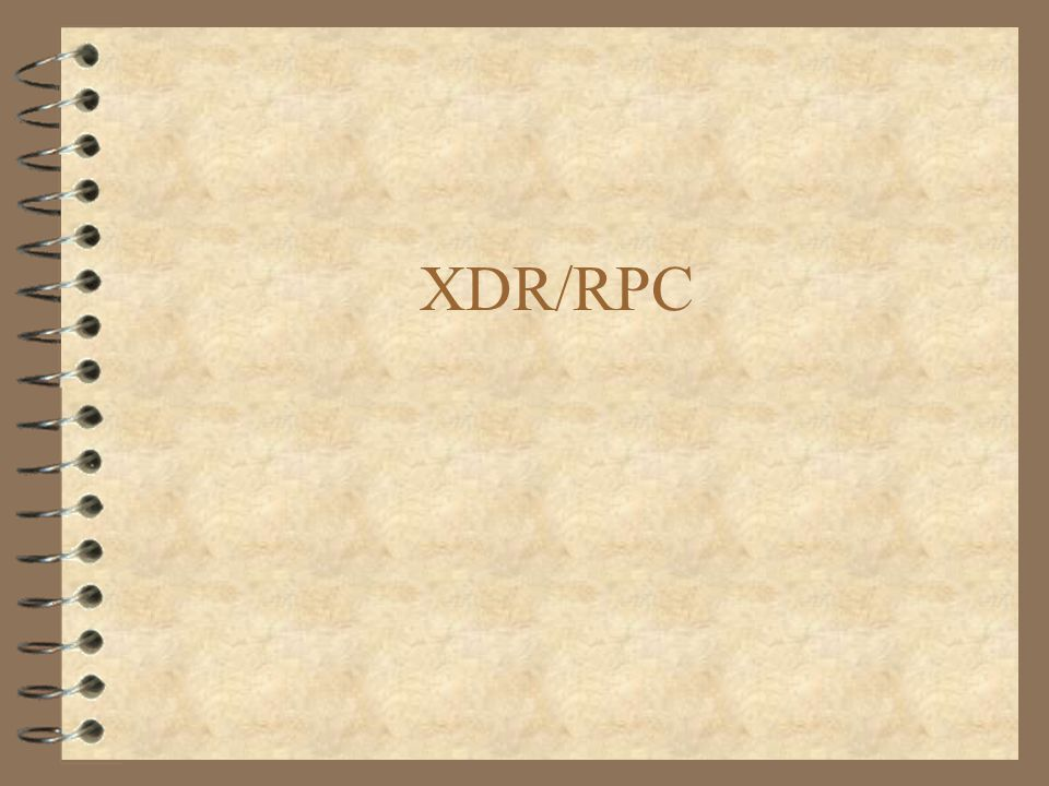 XDR/RPC