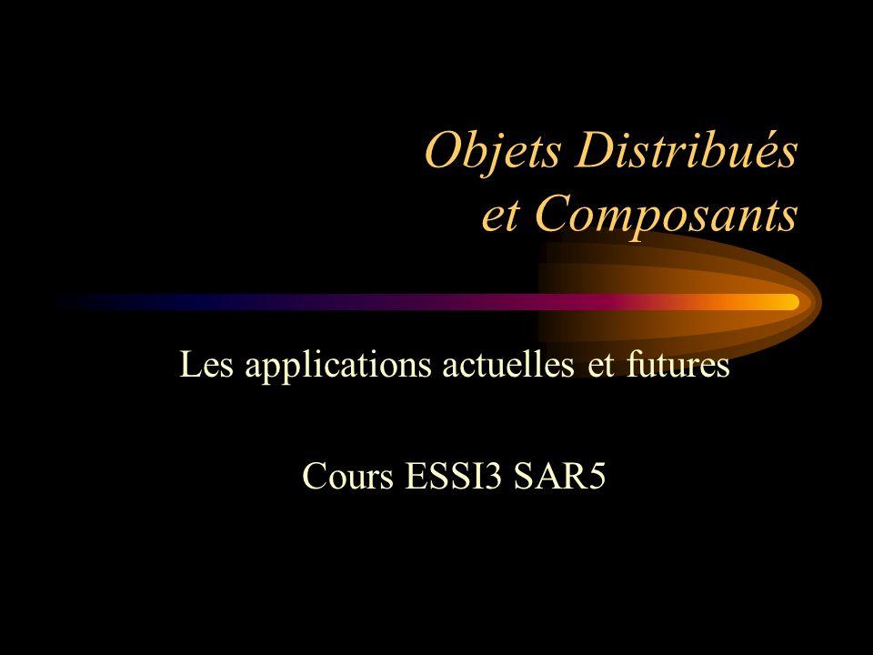 Objets Distribués et Composants Les applications actuelles et futures Cours ESSI3 SAR5