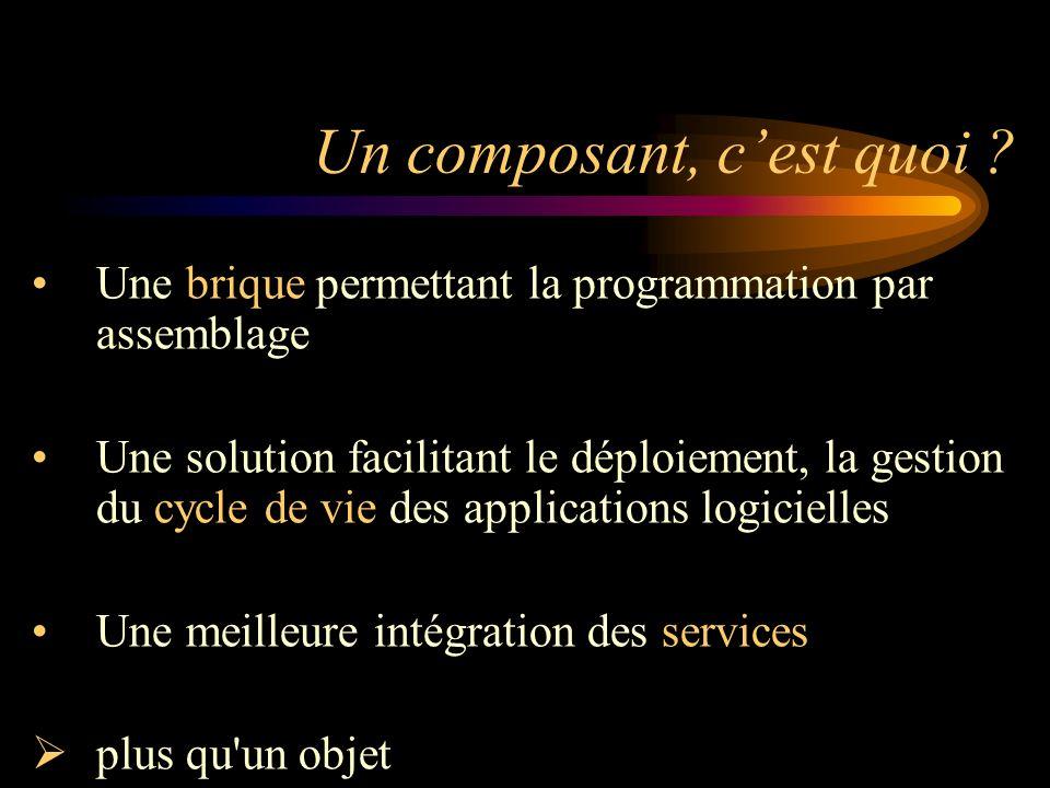 Une brique permettant la programmation par assemblage Une solution facilitant le déploiement, la gestion du cycle de vie des applications logicielles
