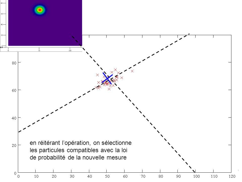 en réitérant lopération, on sélectionne les particules compatibles avec la loi de probabilité de la nouvelle mesure