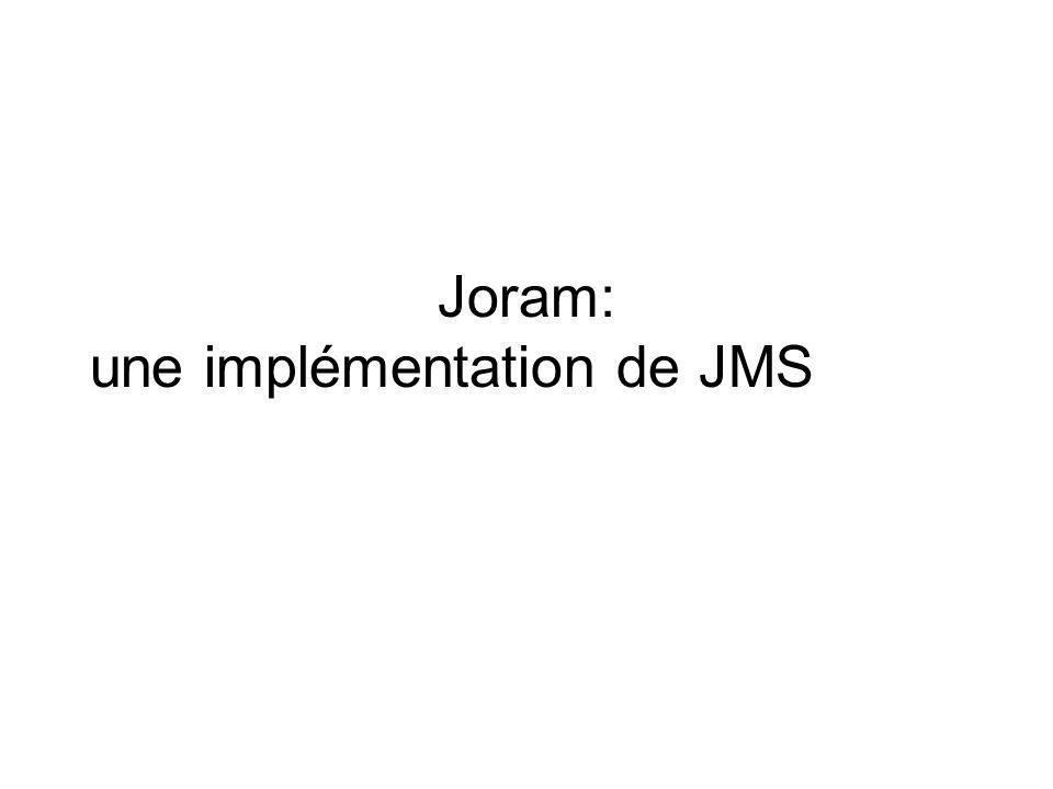 Joram: une implémentation de JMS
