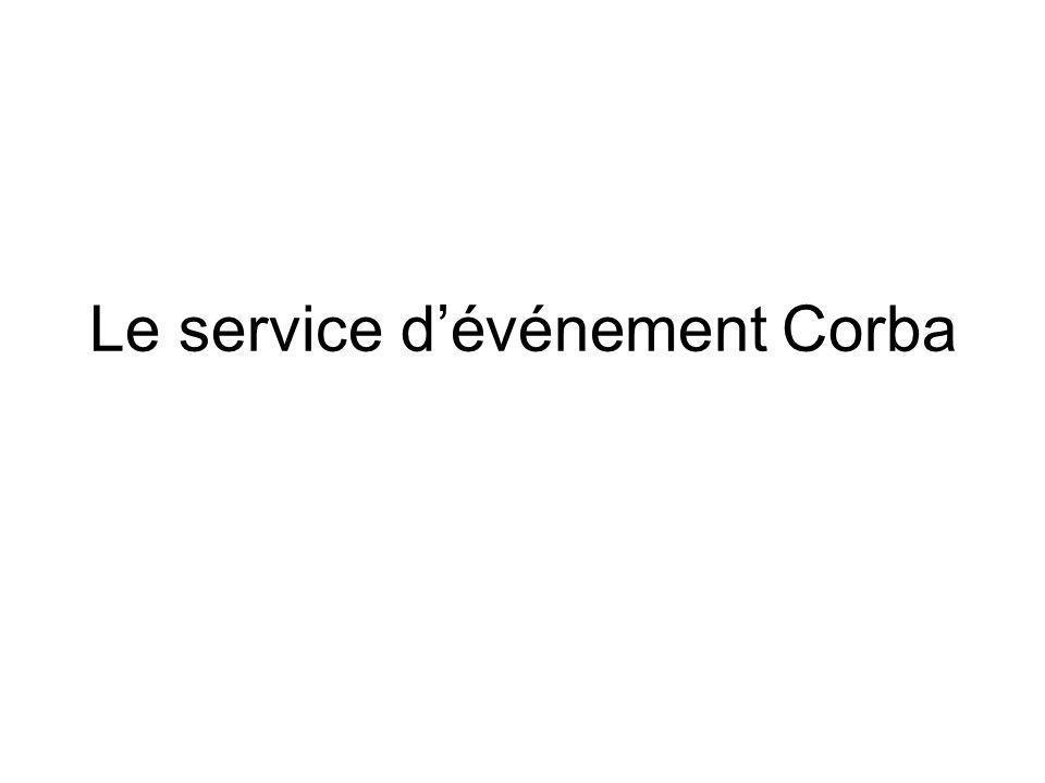 Le service dévénement Corba
