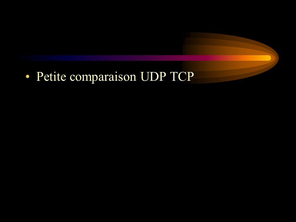 Petite comparaison UDP TCP