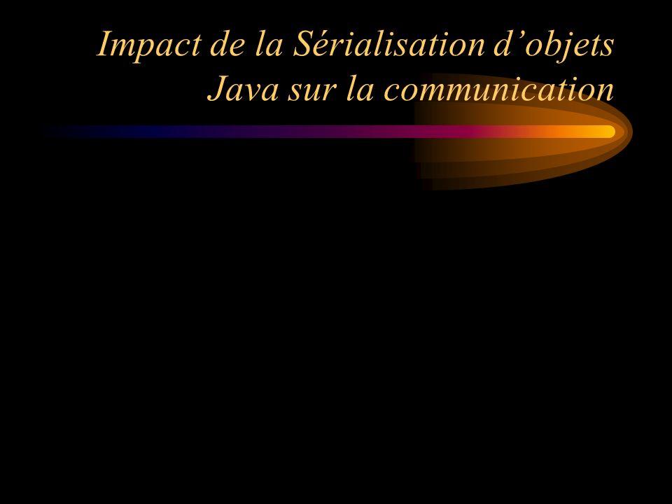 Impact de la Sérialisation dobjets Java sur la communication