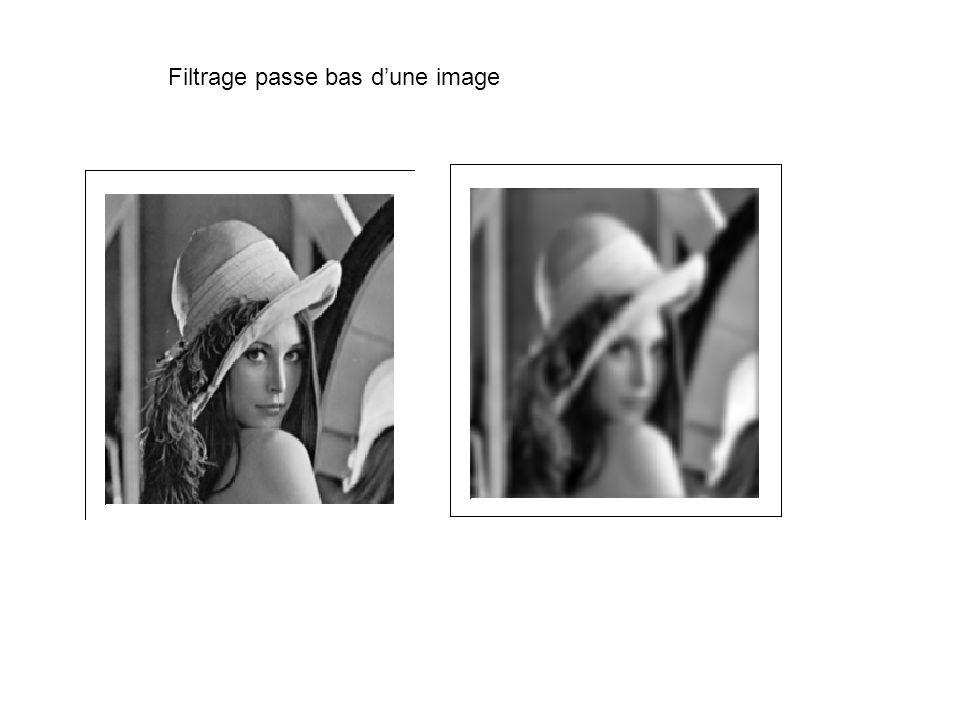 Filtrage passe bas dune image