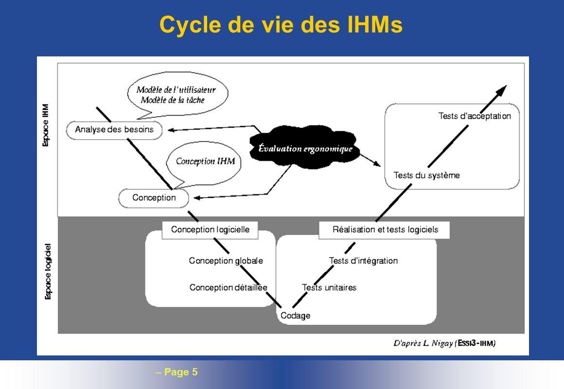 – Page 5 Cycle de vie des IHMs