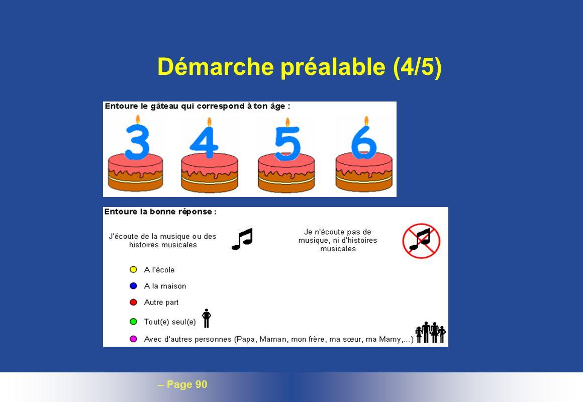 – Page 90 Démarche préalable (4/5)