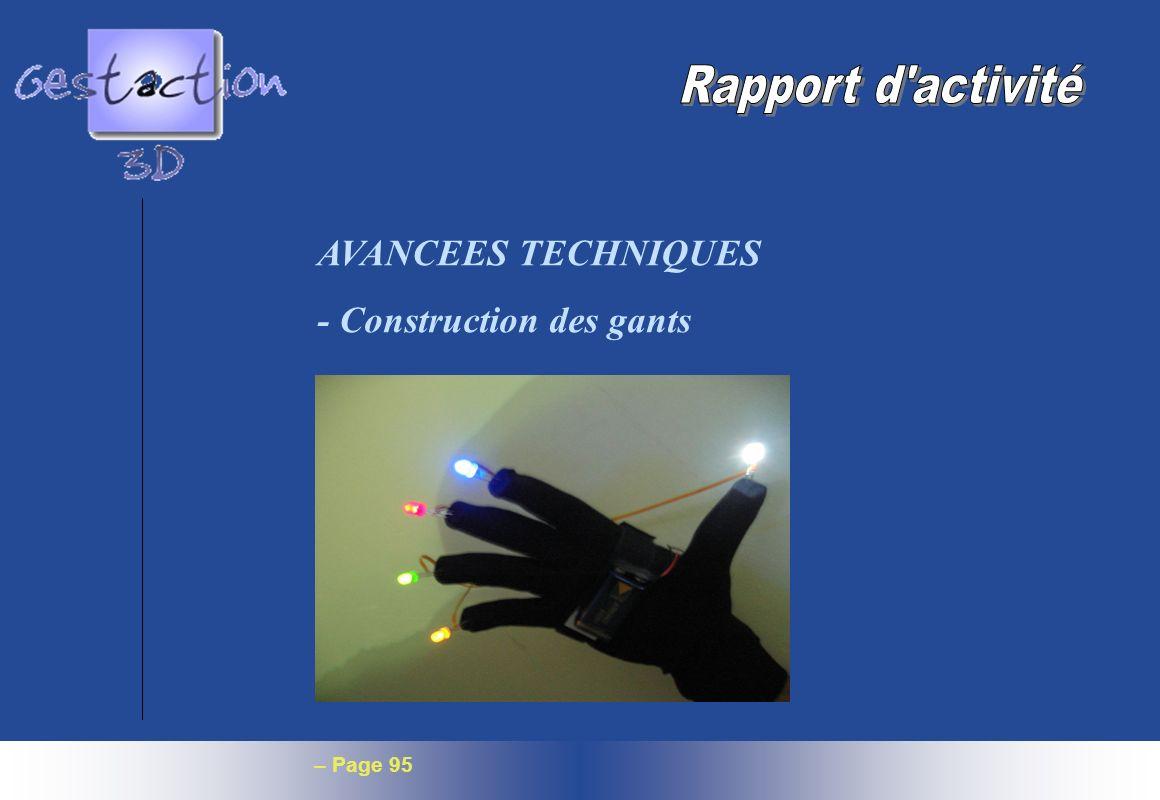 – Page 95 AVANCEES TECHNIQUES - Construction des gants
