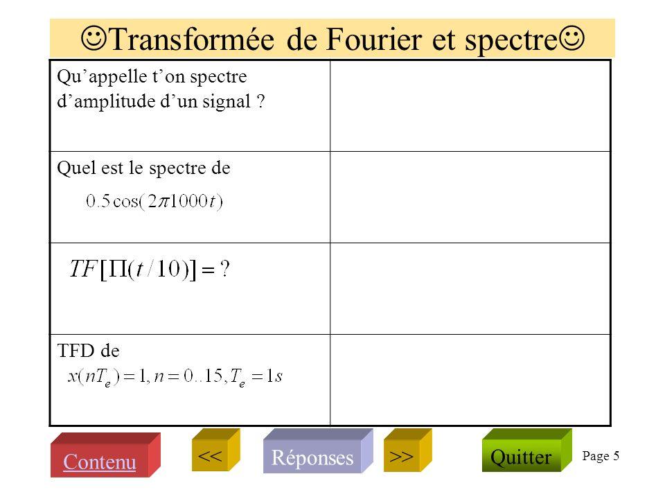 Page 5 Transformée de Fourier et spectre Quappelle ton spectre damplitude dun signal .