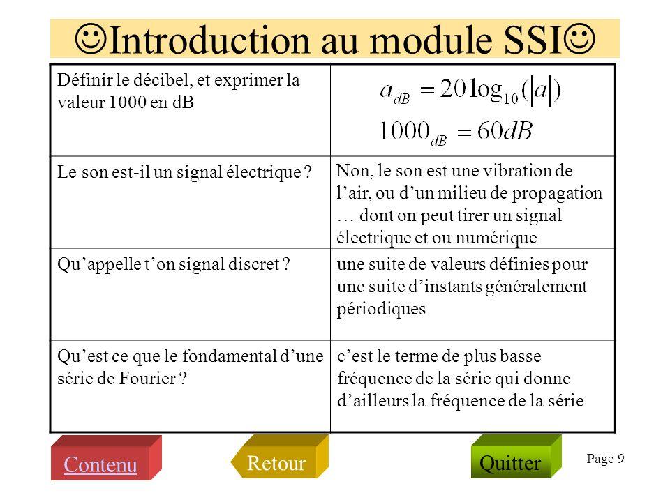 Page 8 Savez vous expliquer les termes suivants ? 1.fe, Te 2.aliasing 3.Shannon 4.numérique 5.(h*e)(t) 6.s*(t) 7.Goldwave 8.Matlab 9.SNR 10.Fonction f